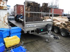 *18ft Flatbed Trailer on 50mm Ball Coupling Papa-03