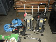 *Two Karcher Pressure Washers and Attachments