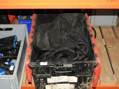 *Box Containing Black Webbing and Ground Sheet Material
