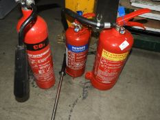 *Wet Chemical, Dry Powder and CO2 Fire Extinguishers