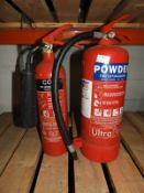 *Dry Powder and a CO2 Fire Extinguishers