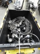 *Five 10m Lengths of LED Festoon Lighting with Power Supply Cables