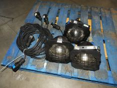 *Box Containing Three Par-56 Lights with Power Supply Cables