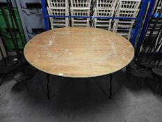 *Six 5ft Circular Banqueting Tables with Folding Legs