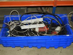 *Box Containing Assorted 3-Phase and Other Cables