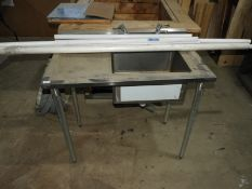 *Stainless Steel Commercial Sink Unit with Left Hand Drainer and Lever Taps