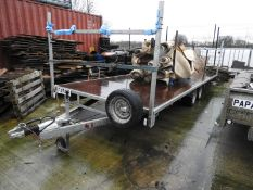 *18ft Flat Bed Trailer on 50mm Ball Coupling Papa-18