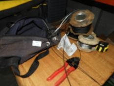 *Toolbag Containing 3 Rolls of Wire Rope and a Pair of Heavy Duty Wire Rope Cutters