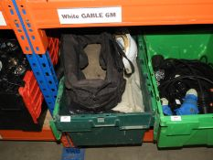 *Box Containing Bin Bags, Toolbag and a Safety Helmet