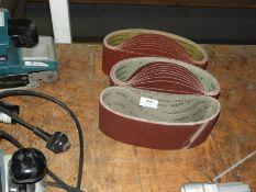 *Three Packs of Sanding Belts