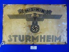NSKK Enamel Sign 40x25cm