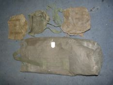 Kit Bag and Assorted Gas Mask/Utility Bags