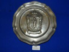 """Pewter Plate """"Bastogne"""""""