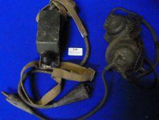 Morse Key No.19 and a Headset