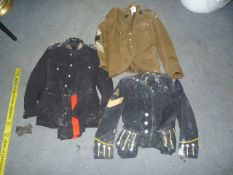 Three Jackets and a Pair of Trousers in Relic Condition