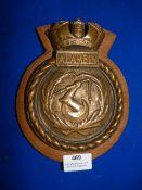 Brass Alamein Plaque 20cm high