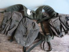 British 1990's Olive Green Webbing Set