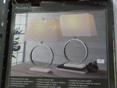 *Bridgeport Designs Marble Halo Lamps 2pk