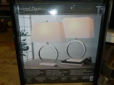 *Marble Halo Lamps 2pk