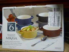 *Mikasa 6pc Stoneware Bowl Set