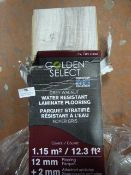 *Grey Walnut Water Resistant Laminate Flooring 6pk