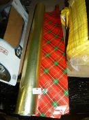 *Roll of Double Sided Golden Tartan Wrapping Paper