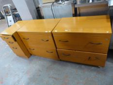 Two Sets of Office Drawers and a Three Drawer Fili