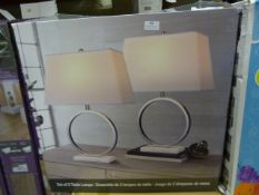 *Bridgeport Designs Marble Halo Lamp 2pk