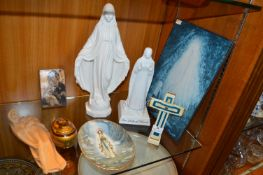 Religious Items; Virgin Mary Statuettes, Icons, Cr