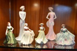 Six Coalport Figurines
