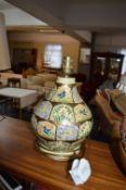 Vintage Kashmir Hand Painted Lamp