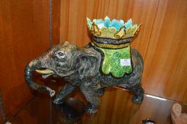 Majolica Elephant
