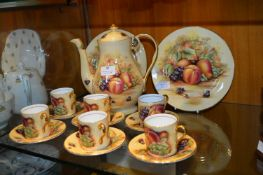 Vintage Aynsley Orchard Gold Coffee Set 15pc