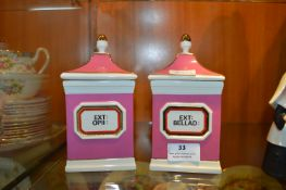 Apothecary Chemists Storage Jars by Chalsyn Potter