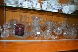 Cut Crystal Bowls and Dishes, Drinking Glasses, et