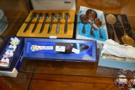 Box of Cutlery Including Aynsley and Viners