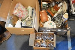 Two Boxes of Household Goods, Kitchenware, Storage