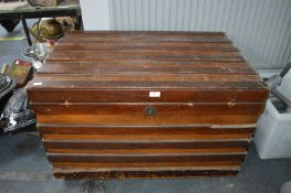 Large Wooden Traveling Chest