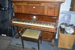 Upright Piano by Chapple & Co with Piano Stool