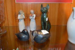 Ornamental Birds, Cat and Angels