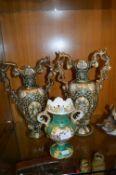 Three Decorative Pottery Vases