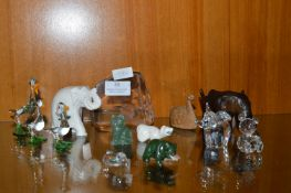 Animal Ornaments Including Swarovski Crystal Eleph