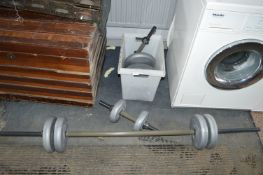 Weightlifting Bar plus Weighs and Dumbbells