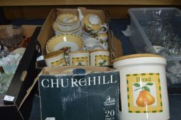 Churchill Dinner Service plus Storage Jars, Bread