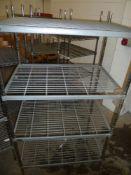 * Wire Racking - 4 shelf 900w x 600d x 1650h