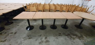 * 4 x rectangular tables 800w x 650d x 760h