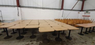 * 6 x rectangular tables with curved edges 800w x 600d x 760h