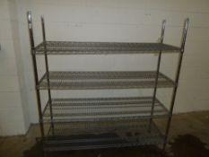 * Wire Racking - 4 shelf 1500w x 500d x 1670h