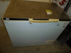 * S/S topped chest freezer in working condition. 990w x 650d x 900h