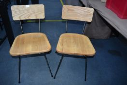 *Two Solida Light Oak Side Chairs